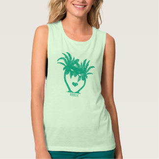 Emeral Teal Green Palm Tree Beach Wedding T-SHIRT