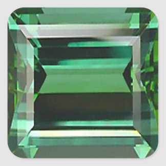 Emerald 3 square sticker