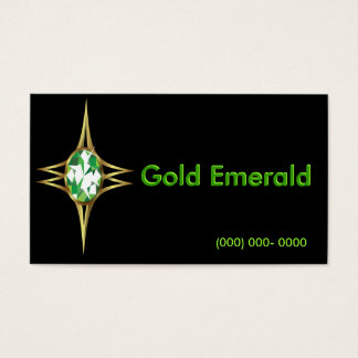 Emerald and Gold Logo Business Card