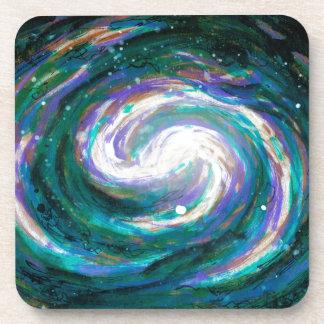 Emerald and Purple Galaxy Coaster