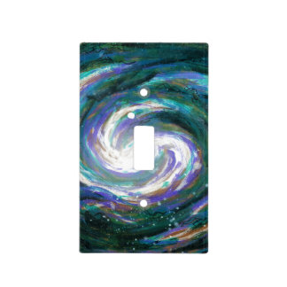 Emerald and Purple Galaxy Light Switch Cover