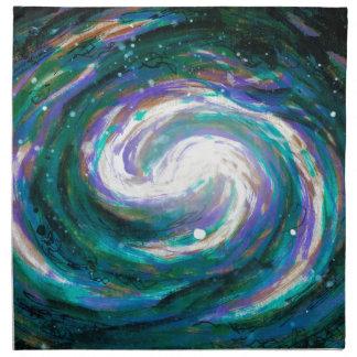 Emerald and Purple Galaxy Napkin