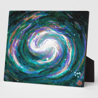 Emerald and Purple Galaxy Plaque