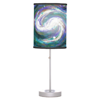 Emerald and Purple Galaxy Table Lamp