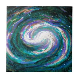 Emerald and Purple Galaxy Tile