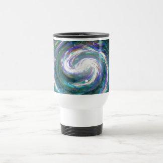 Emerald and Purple Galaxy Travel Mug