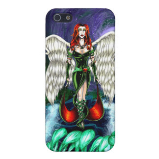"Emerald Angel iPhone 5/5s Matte case by ""CaseSavvy iPhone 5 Cases"
