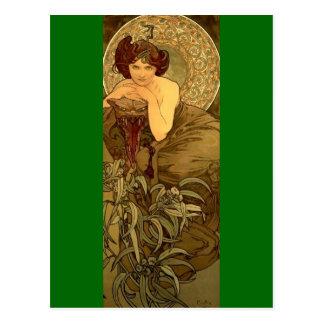 Emerald - Art Nouveau Postcard