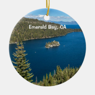 Emerald Bay with Lake Tahoe Ceramic Ornament