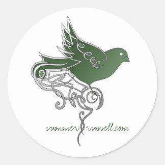 Emerald bird stickers