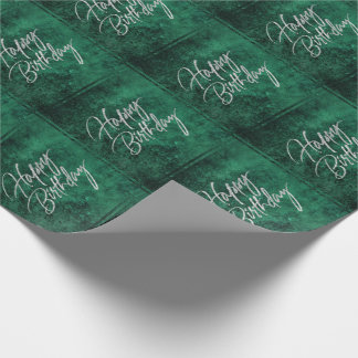 Emerald Birthday | Chic Jade Watercolor Green | Wrapping Paper