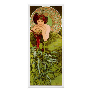 Emerald by Alphonse Mucha - Vintage Poster Print