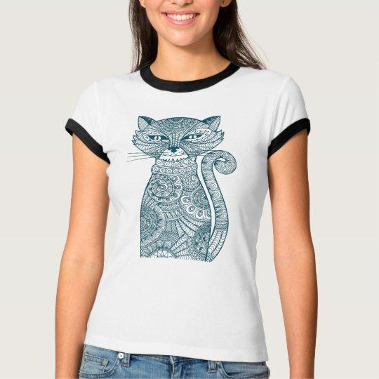 Emerald Cat Graphic T Shirt