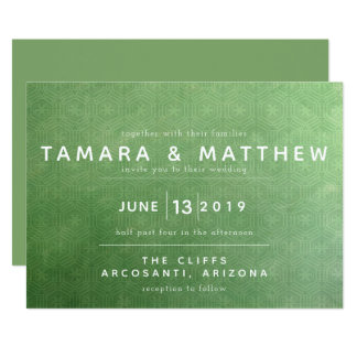 Emerald City Wedding Invitation