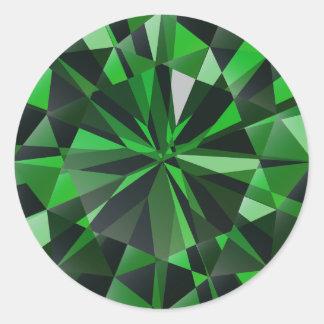 Emerald Classic Round Sticker