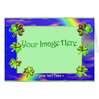 Emerald Clover (photo frame) Card