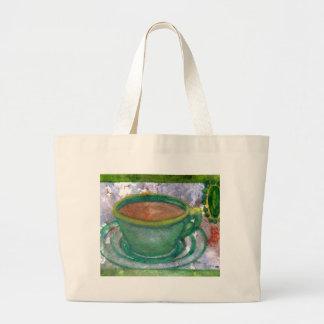 Emerald Coffee CricketDiane Coffee Art Jumbo Tote Bag