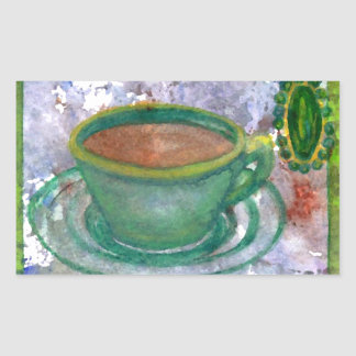 Emerald Coffee CricketDiane Coffee Art Sticker