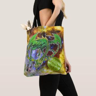 Emerald Cosmic Dragon Tote Bag