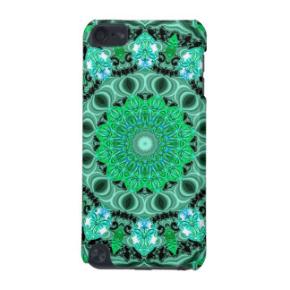 Emerald Crystals, Abstract Mint Green Mandala iPod Touch (5th Generation) Cover