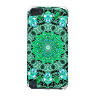 Emerald Crystals Mandala, Abstract Mint Green iPod Touch (5th Generation) Covers