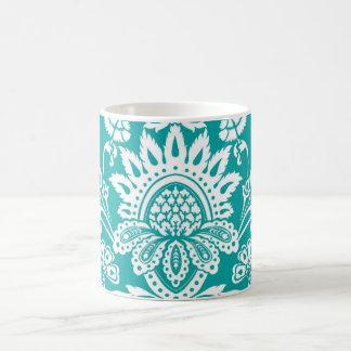 Emerald Damask mug