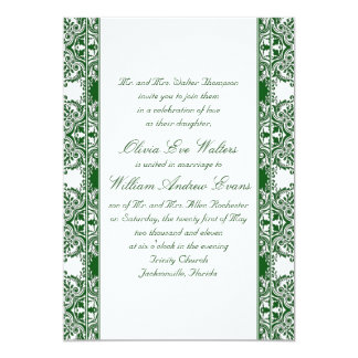 Emerald Damask Wedding Invitation