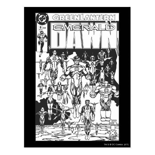Emerald Dawn Cover, Black and White Postcards