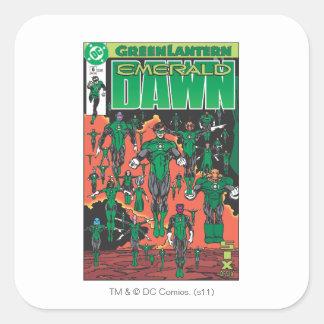 Emerald Dawn Cover Square Sticker