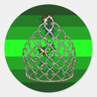Emerald Diva Pride Classic Round Sticker