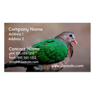 Emerald Dove Double-Sided Standard Business Cards (Pack Of 100)