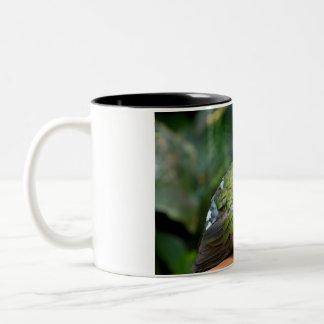 Emerald Dove Profile and Perch Two-Tone Coffee Mug