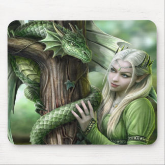 Emerald Dragon & Elf Mouse Pad