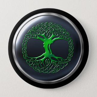 Emerald Druid Warrior Shield 4 Inch Round Button