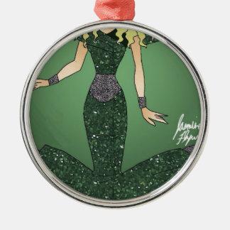 Emerald Empress Metal Ornament