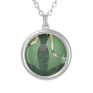 Emerald Empress Silver Plated Necklace