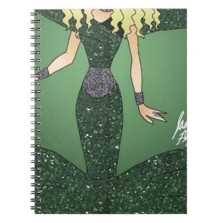 Emerald Empress Spiral Notebook