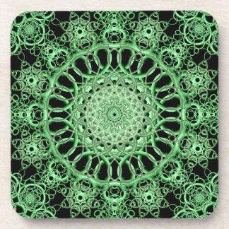 Emerald Eye Mandala Beverage Coaster