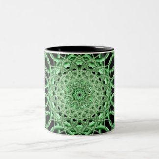 Emerald Eye Two-Tone Coffee Mug