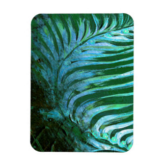 Emerald Feathering I Rectangular Photo Magnet
