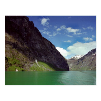 Emerald Fjord Dream Postcard