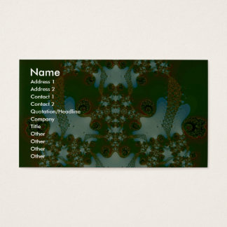 Emerald Fractal Business Card