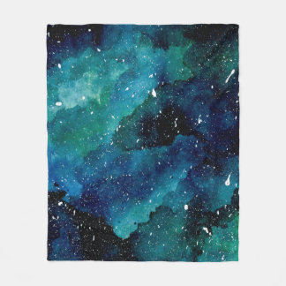 Emerald Galaxy Fleece Blanket
