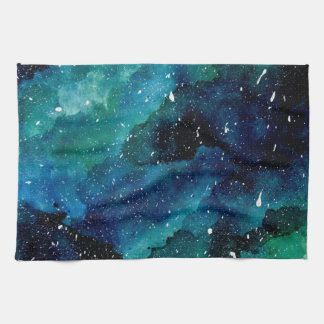 Emerald Galaxy Kitchen Towel