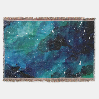 Emerald Galaxy Throw Blanket