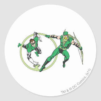 Emerald Gladiator & Emerald Archer Round Sticker