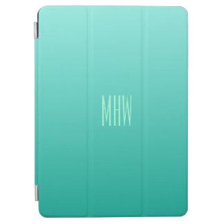 Emerald Gradient custom monogram device covers iPad Air Cover