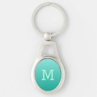 Emerald Gradient custom monogram key chain