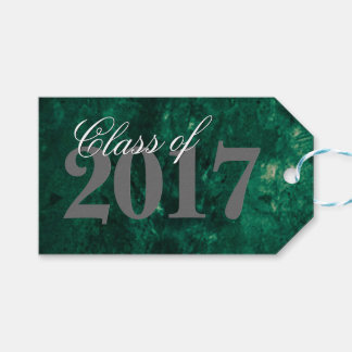 Emerald Graduate Jade Shamrock Green Party Theme Gift Tags