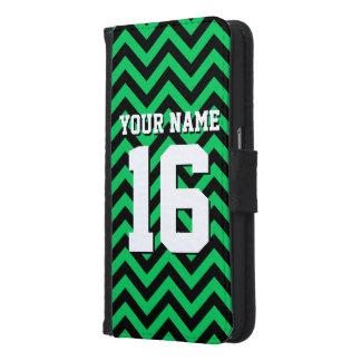 Emerald Green Black Chevron Sports Jersey